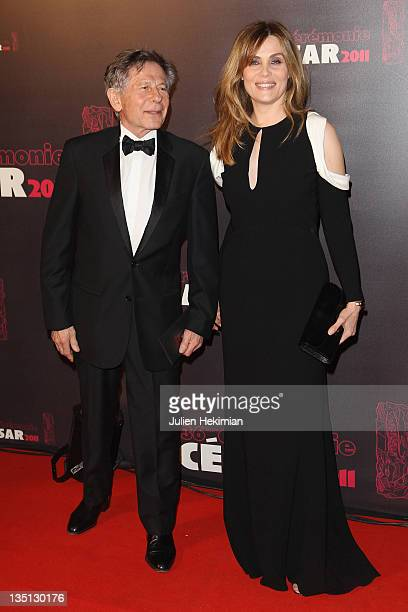 Roman Polanski and his wife Mathilde Seigner attend the 36th Cesar Film Awards at Theatre du Chatelet on February 25 2011 in Paris France