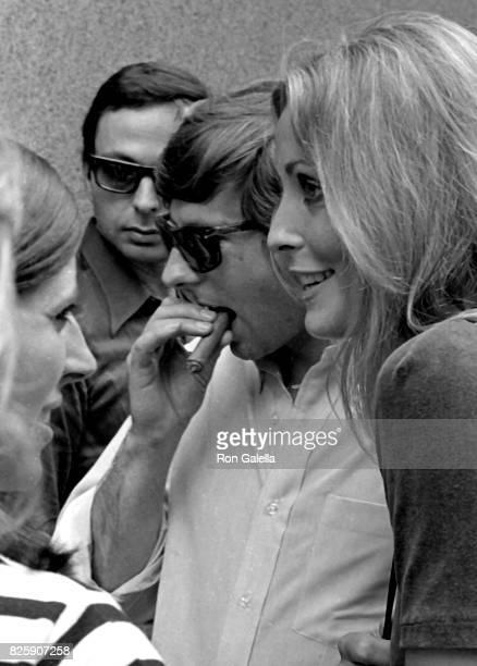 Roman Polanski and Sharon Tate sighted on location filming 'Rosemary's Baby' on August 28 1967 at Tiffany's in New York City