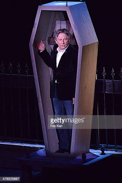 Roman Polanski attends the ÔLe Bal des VampiresÔ Press Conference at Theatre Mogador on March 17 2014 in Paris France