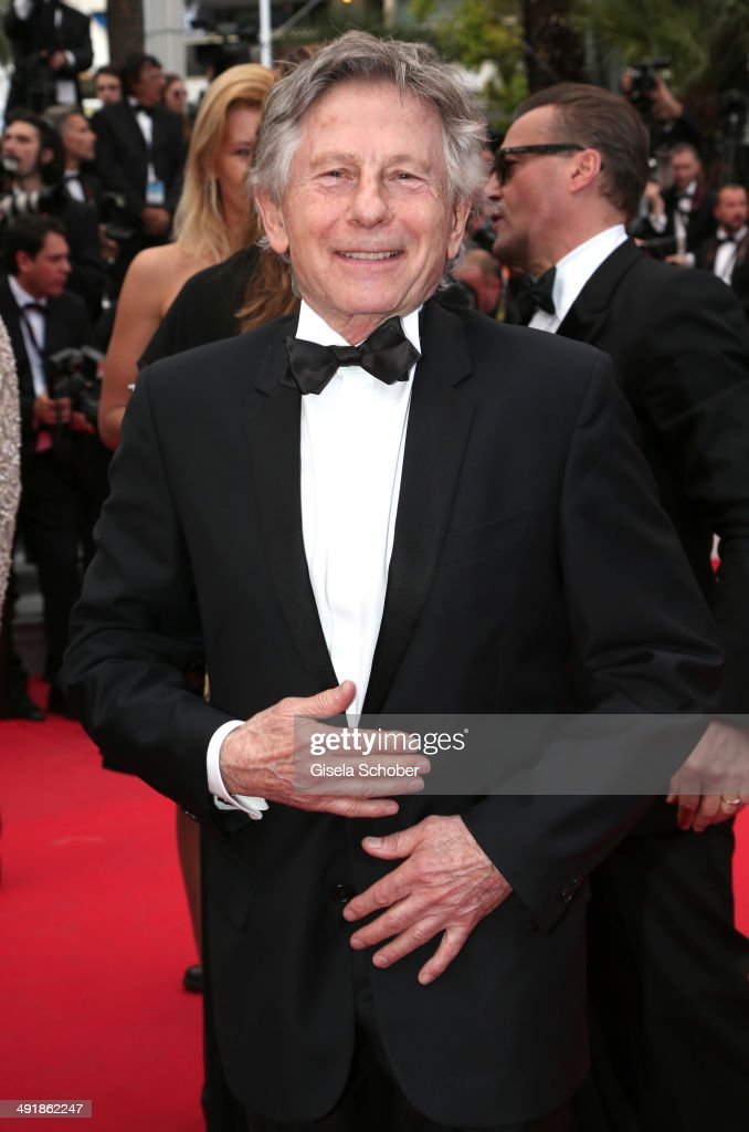 <a gi-track='captionPersonalityLinkClicked' href=/galleries/search?phrase=Roman+Polanski&family=editorial&specificpeople=207150 ng-click='$event.stopPropagation()'>Roman Polanski</a> attends the 'Saint Laurent' premiere during the 67th Annual Cannes Film Festival on May 17, 2014 in Cannes, France.