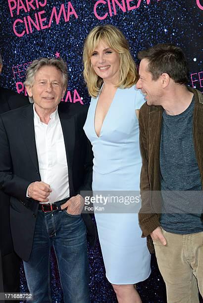 Roman Polanski Emmanuelle Seigner and Mathieu Amalric attend the Festival Paris Cinema Opening Night And Premiere Of 'La Venus A La Fourrure' at the...