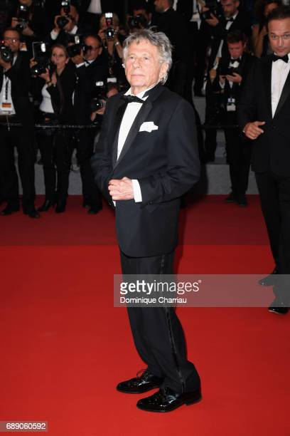 Roman Polanski leaves the 'Based On A True Story' screening during the 70th annual Cannes Film Festival at Palais des Festivals on May 27 2017 in...