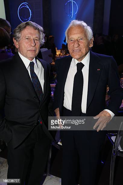 Roman Polansky and Jean D'Ormesson attend the 'Scopus Awards' 2013 at Espace Cambon Capucines on April 10 2013 in Paris France