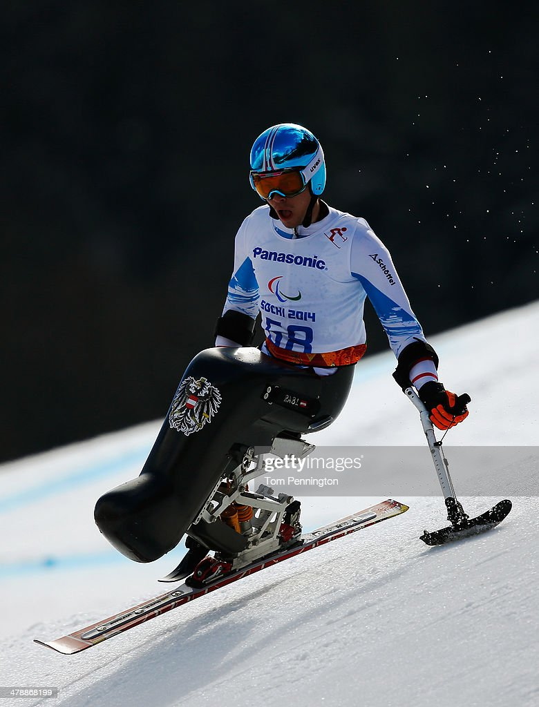 Roman Rabl of Austria competes in the Men's Giant Slalom Sitting during day eight of the Sochi 2014 Paralympic Winter Games at Rosa Khutor Alpine Center on March 15, 2014 in Sochi, Russia.