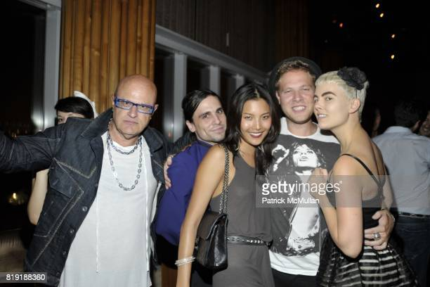 Roman Rakovsky Stacey Nicola attend DAVID LACHAPELLE'S AMERICAN JESUS After Party at the Top of the Standard on July 13 2010 in New York City