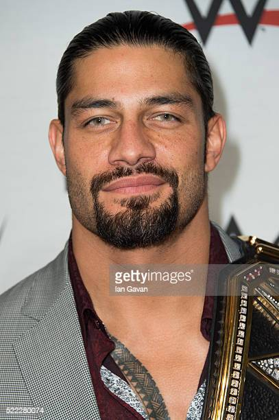 Roman Reigns arrives for WWE RAW at 02 Brooklyn Bowl on April 18 2016 in London England