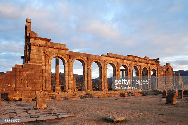 Roman ruins of Volubilis near Meknes in Morocco