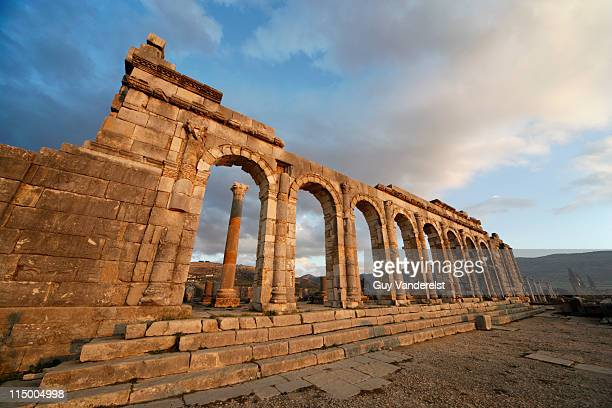 Roman ruins of Volubilis near Meknes,Morocco.