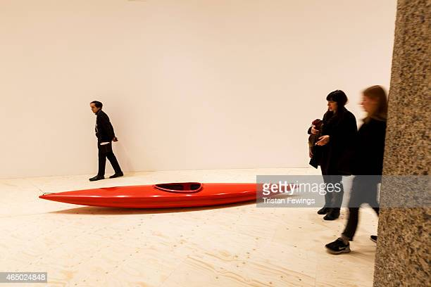 Roman Signer Slow Movement exhibition at the Curve Gallery at the Barbican Centre on March 3 2015 in London England