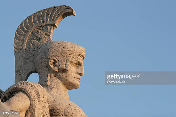 Roman soldier sculpture, Rome Italy