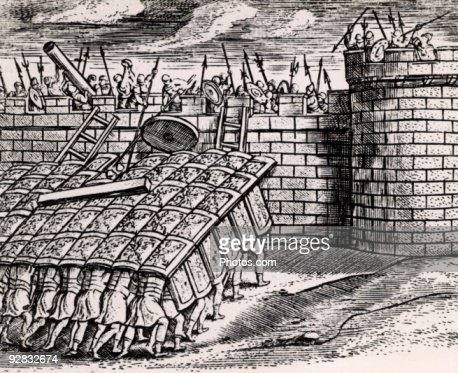 roman army tortoise formation When was the earliest known use of the testudo formation by the  when was the testudo / tortoise formation first used by  testudos when the roman army employed.
