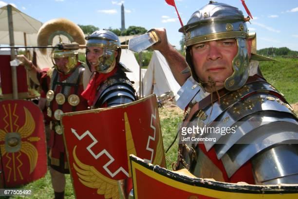 Roman soldiers reenactors at Fort Meigs Historic Site