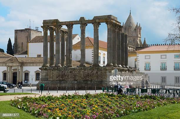 Roman Temple and flower garden