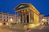 Roman temple in Nimes,France.