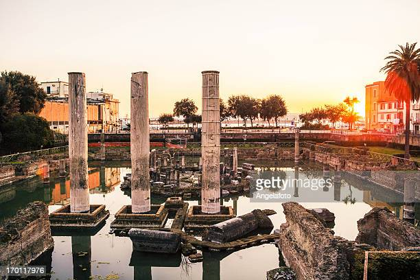Tempio romano di Pozzuoli, Baia di Napoli, Italia