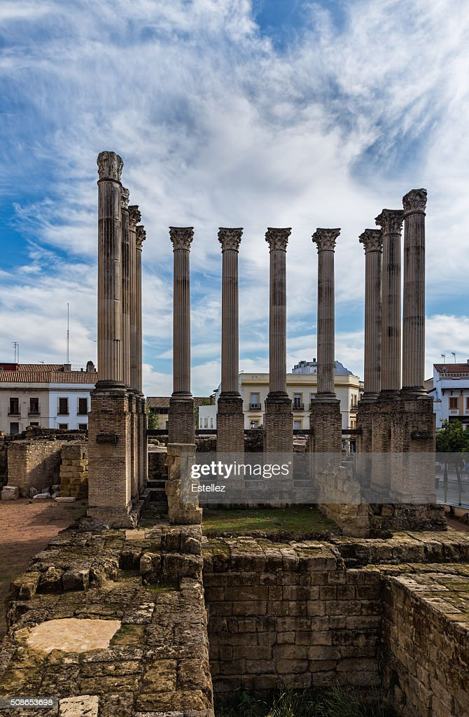 Roman Temple of Cordoba : Stock Photo