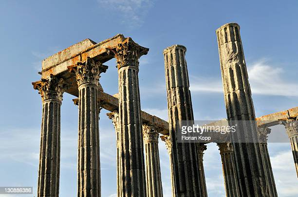 Roman Temple of Diana in Evora, UNESCO World Heritage Site, Alentejo, Portugal, Europe