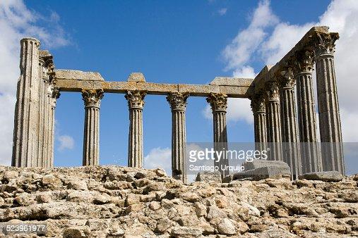 Roman temple ruins of Evora