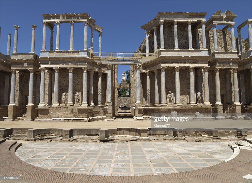 'Roman Theatre at Merida, Spain'