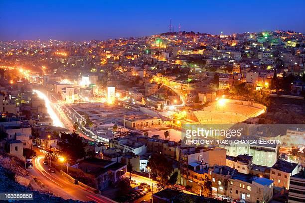 Roman Theatre at Night, Amman, Jordan