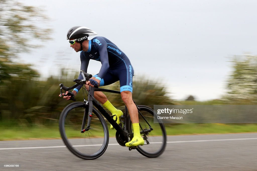 Roman van Uden of Auckland competes in the time trial round Winton during stage 6 of the Tour of Southland on November 7 2015 in Invercargill New...