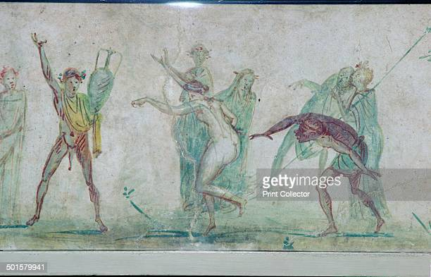 Roman wallpainting of a Bacchanalian dance from the Villa Doria Pamphili in Rome c50 From the British Museum's collection
