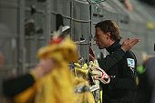Roman Weidenfeller keeper of Dortmund talks to their supporters after the Bundesliga match between Borussia Dortmund and FC Augsburg at Signal Iduna...