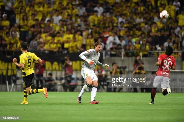 Roman Weidenfeller of Borussia Dortmund in action during the preseason friendly match between Urawa Red Diamonds and Borussia Dortmund at Saitama...