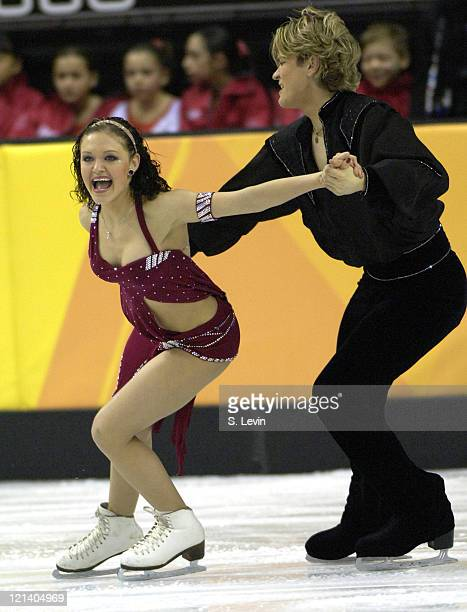 Roman Zaretski and Alexandra Zaretski of Israel during the Ice Dancing Free Skate Program at the 2006 Olympic Games at the Palavela in Torino Italy...