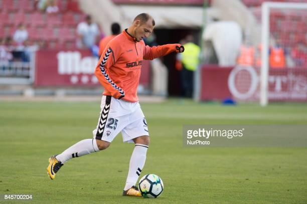 Roman Zozulya during the La Liga second league match between Albacete Balompié and Club deportivo Lugo at Carlos Belmonte stadium on September 10...