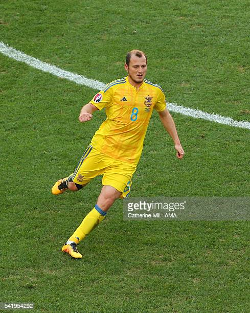 Roman Zozulya of Ukraine during the UEFA EURO 2016 Group C match between Ukraine and Poland at Stade Velodrome on June 21 2016 in Marseille France