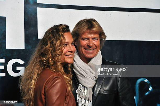 Romana Hinterseer Hansi Hinterseer attend the Austria premiere of the film 'Rush' at Gartenbaukino on September 30 2013 in Vienna Austria