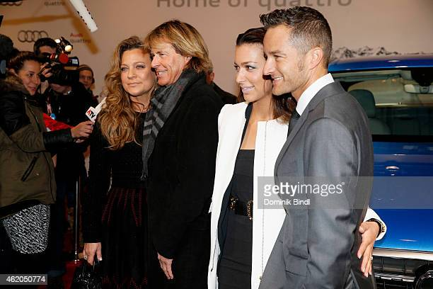 Romana Hinterseer Hansi Hinterseer Jessica Hinterseer and Timo Scheider attend the Audi Night 2015 on January 23 2015 in Kitzbuehel Austria