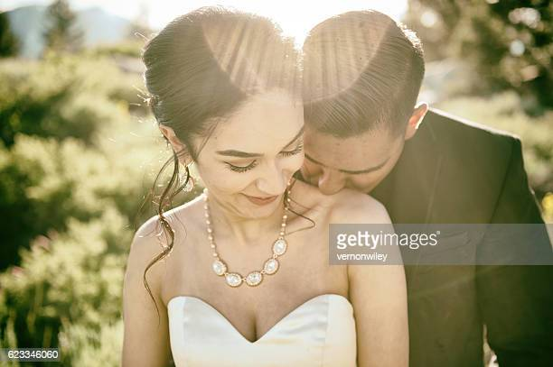 Romance and Love at a wedding