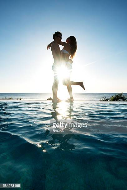 Romance at the infinity pool.
