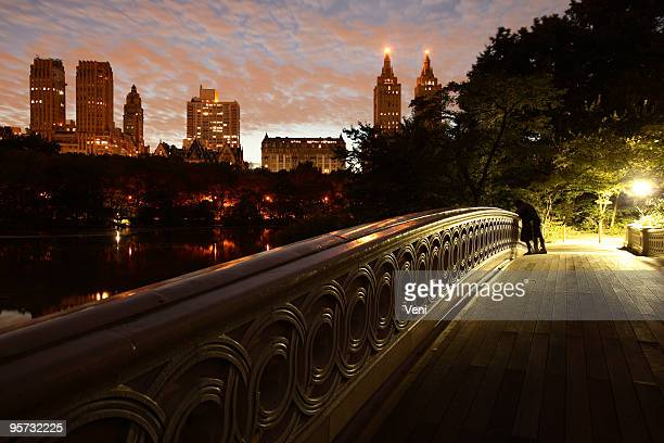 Romance on Bow Bridge, Central Park, New York