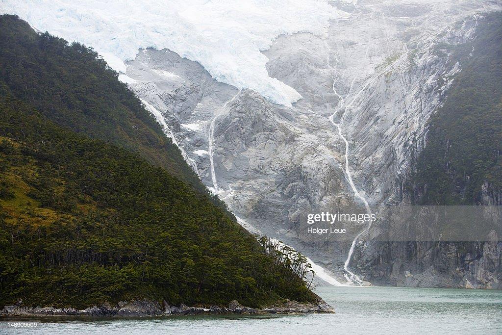 Romanche Glacier, Beagle Channel, Chilean Fjords. : Stock Photo