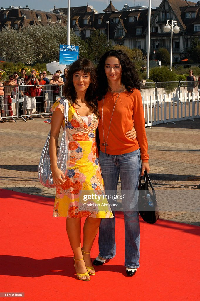 Romane Bohringer (left) and <a gi-track='captionPersonalityLinkClicked' href=/galleries/search?phrase=Rachida+Brakni&family=editorial&specificpeople=609273 ng-click='$event.stopPropagation()'>Rachida Brakni</a> during 31st American Film Festival of Deauville - Keane Premiere at C.I.D. Deauville in Deauville, France.