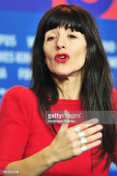 Romane Bohringer attends the 'Vic Flo saw a bear' Press Conference during the 63rd Berlinale International Film Festival at Grand Hyatt Hotel on...