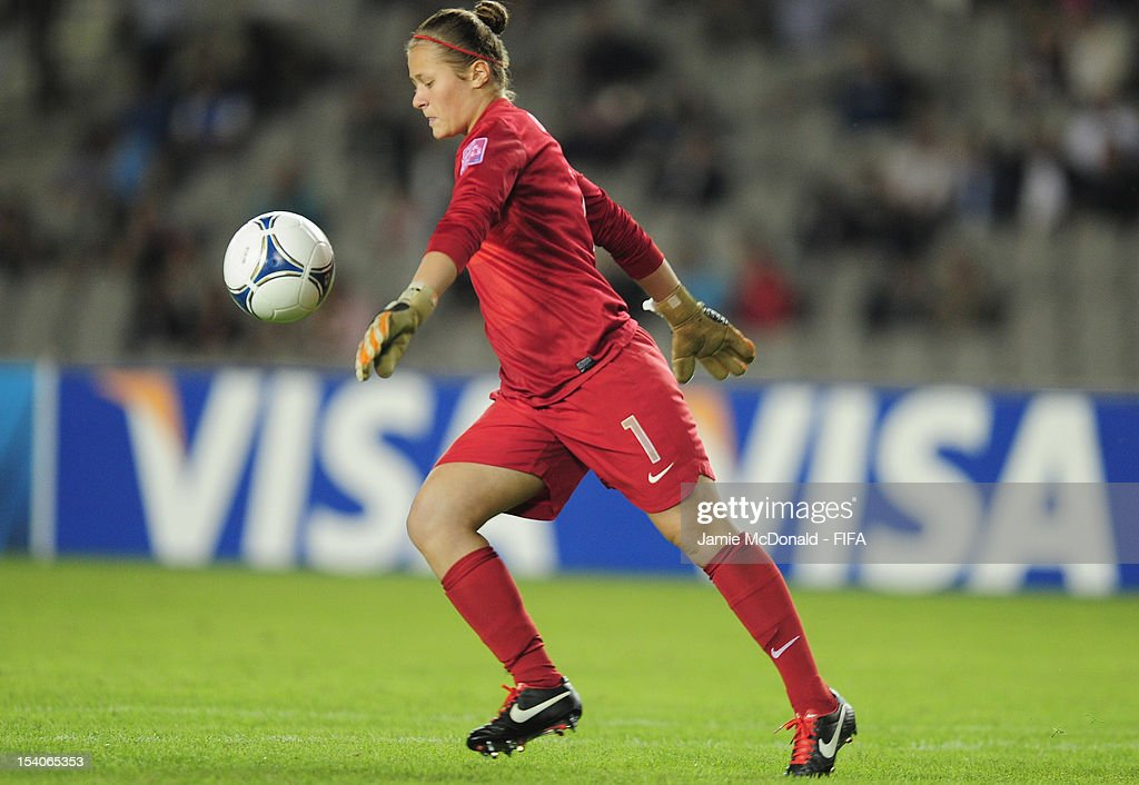 Romane Bruneau of France in action during the FIFA U-17 Women's World Cup 2012 Final match beween France and Korea DPR at Tofig Bahramov Stadium on October 13, 2012 in Baku, Azerbaijan.