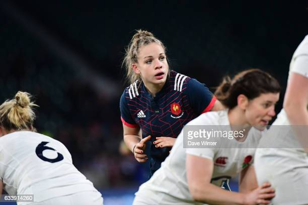 Romane Menager of France during the Women's RBS Six Nations match between England and France at Twickenham Stadium on February 4 2017 in London...