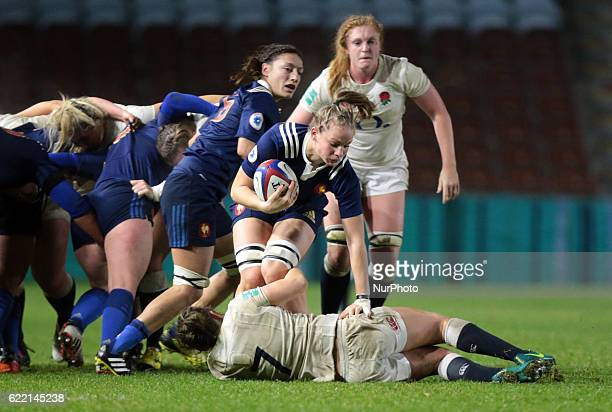 Romane Menager of France Women during Old Mutual Wealth Series between England Women and France Women played at Twickenham Stoop Stadium London...