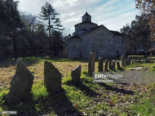 Romanesque Church On Mount Orfano (Mont'Orfano), Lake Maggiore, Northern Italy
