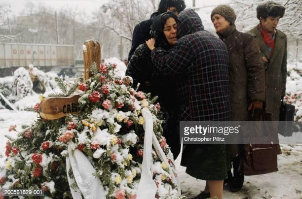 Romania, Bucharest, funeral of fallen heroes of revolution