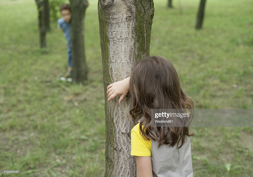 romania children playing hide and seek stock photo getty