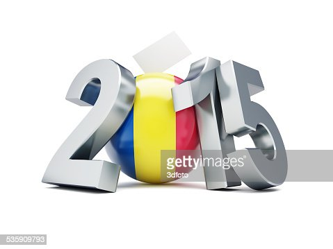 Romeno referendo constitucional sobre um fundo branco de 2015 : Foto de stock