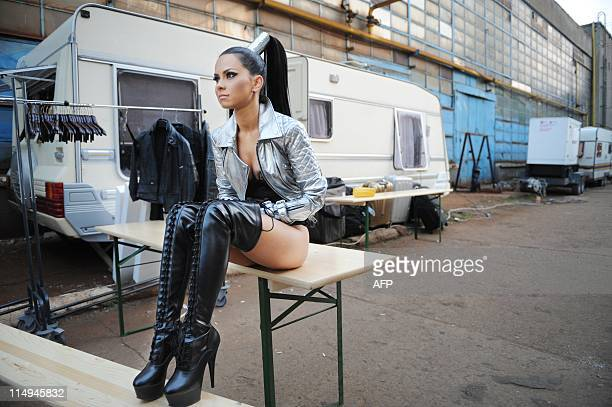 WESSELINGH Romanian dance music singer INNA is having a break during the shooting of a new videoclip in Bucharest on May 23 2011 Alexandra...