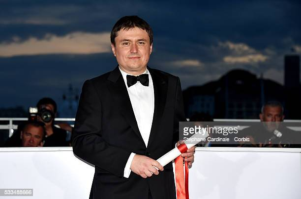 Romanian director Cristian Mungiu winner of the Best Director prize for the film 'Graduation ' at the Palme D'Or Winner Photocall during the 69th...