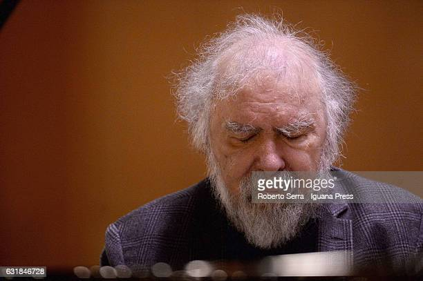 Romanian pianist Radu Lupu performs in a solo concert for Musica Insieme at Auditorium Manzoni on January 16 2017 in Bologna Italy