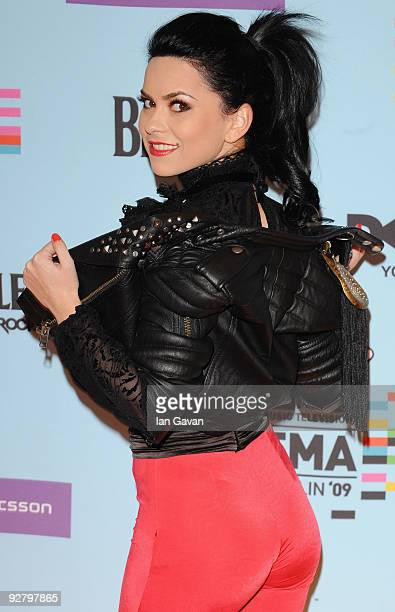 Romanian pop singer Inna arrives for the 2009 MTV Europe Music Awards held at the O2 Arena on November 5 2009 in Berlin Germany